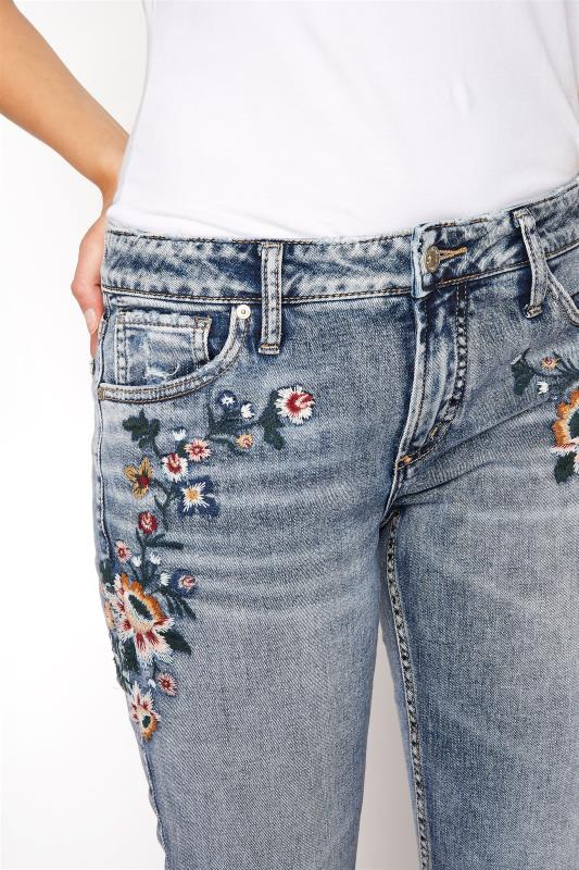 SILVER JEANS Blue Avery Mid Rise Slim Embroidered Skinny Jeans_D.jpg
