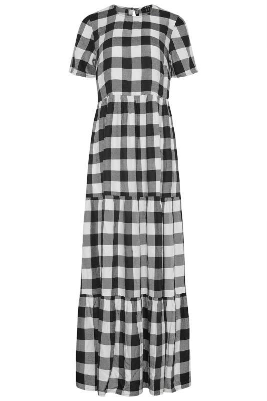 LTS Black Check Tiered Midaxi Dress_F.jpg