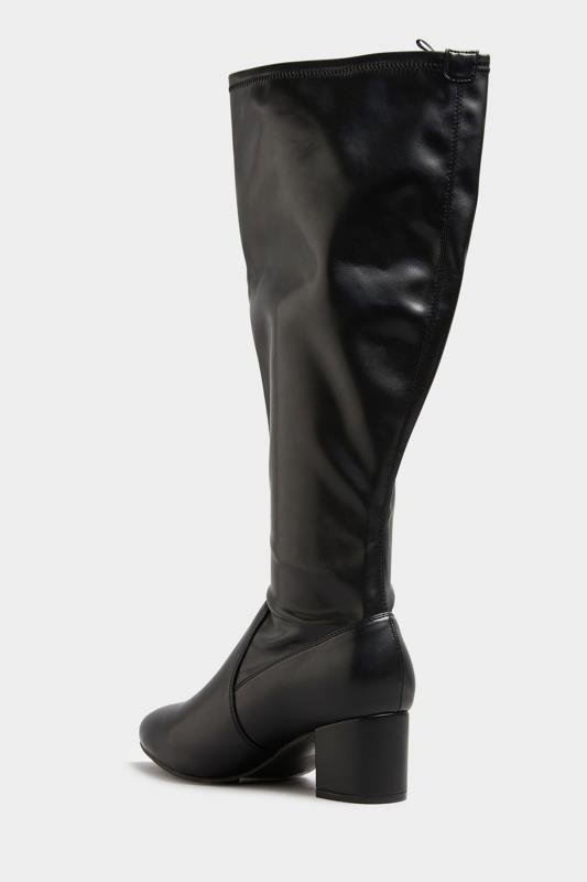 Black Faux Leather Stretch Knee Boots In Extra Wide Fit_C.jpg