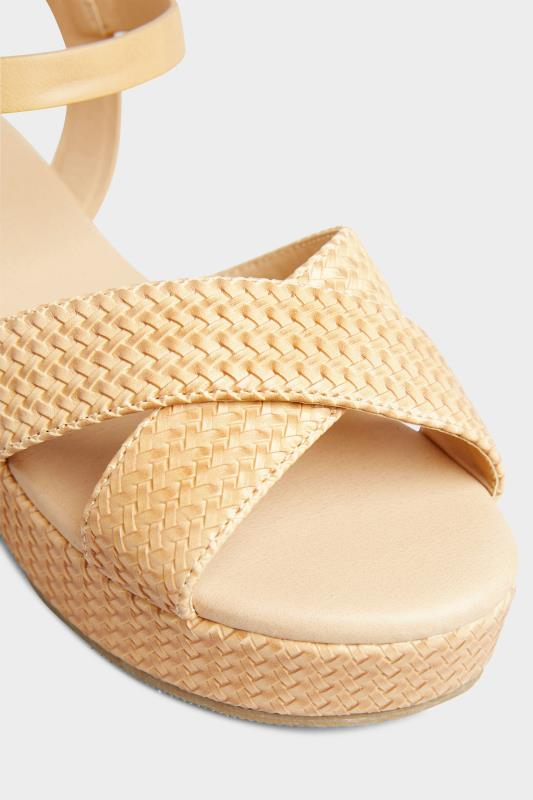 LIMITED COLLECTION Tan Weave Platform Sandal In Extra Wide Fit_D.jpg