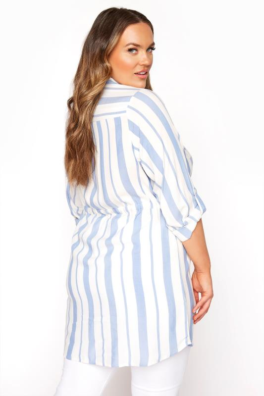 White and Blue Stripe Longline Peplum Shirt_C.jpg