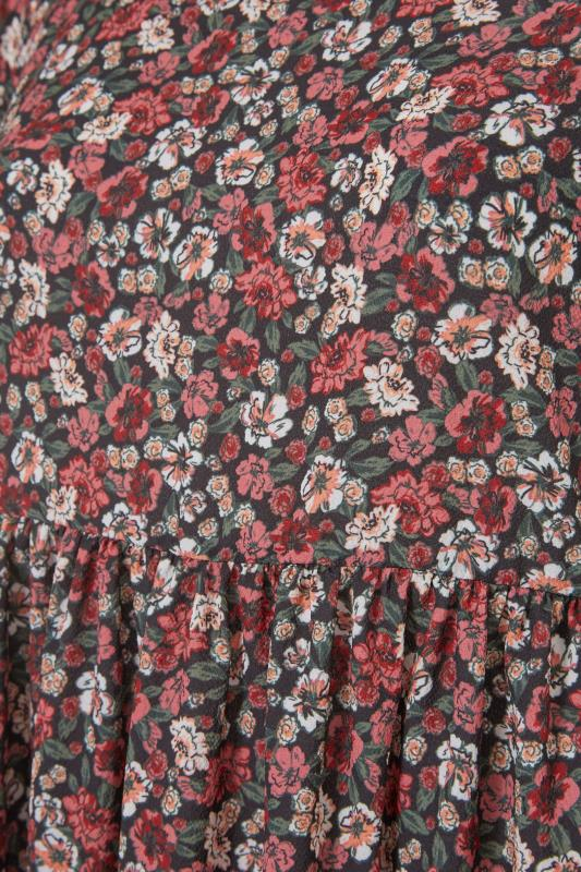 YOURS LONDON Red Ditsy Floral Smock Midi Dress_S.jpg