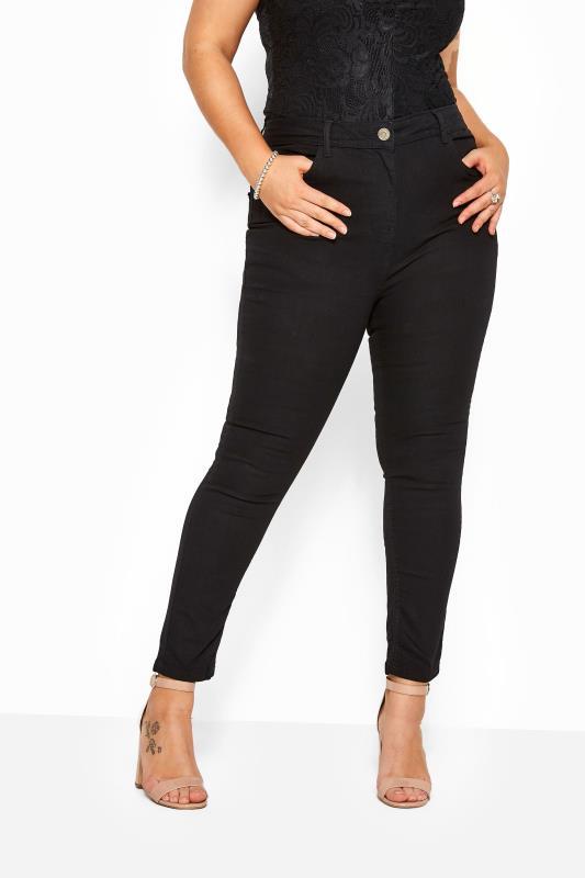 Plus Size Straight Leg Jeans Black Straight Leg RUBY Jeans