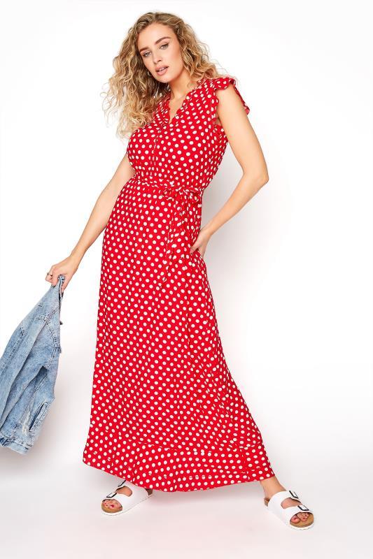 LTS Red Polka Dot Frill Maxi Dress_B.jpg