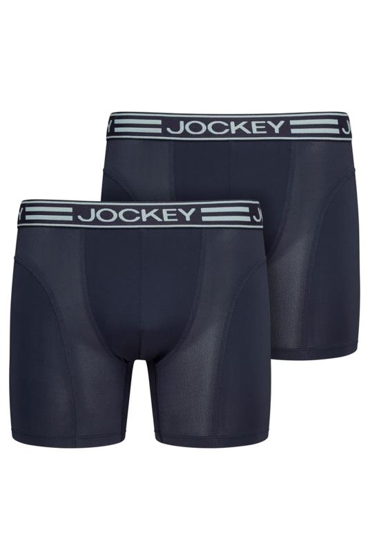 Men's  JOCKEY 2 PACK Navy Microfiber Active Boxers