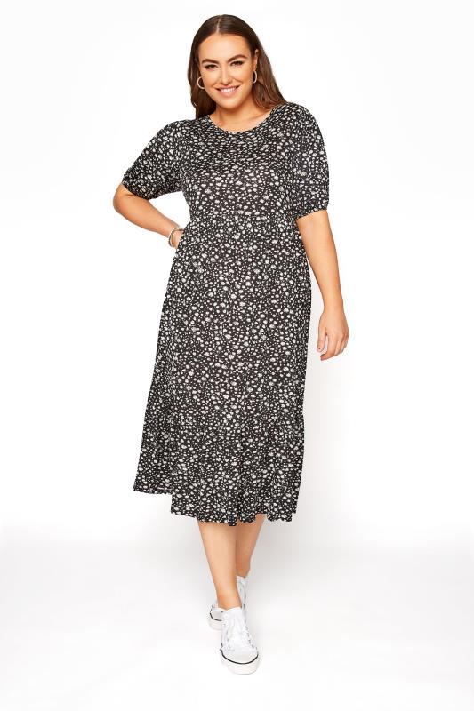 Black Ditsy Puff Sleeve Midaxi Dress_A.jpg