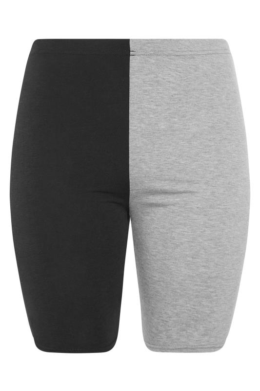 Black & Grey Contrast Cycle Shorts