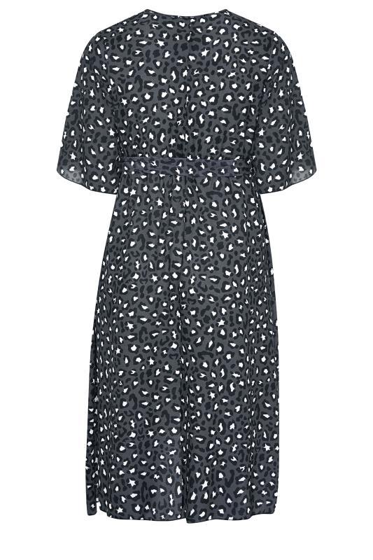 YOURS LONDON Grey Leopard Midi Wrap Dress_BK.jpg