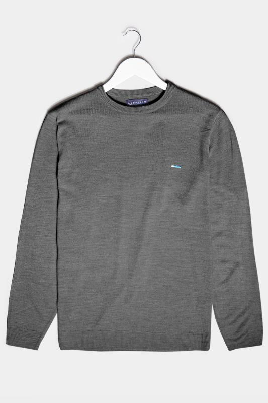 Men's  BadRhino Charcoal Grey Essential Knitted Jumper