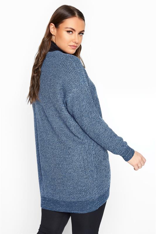 Blue Marl Chunky Knitted Jumper_C.jpg