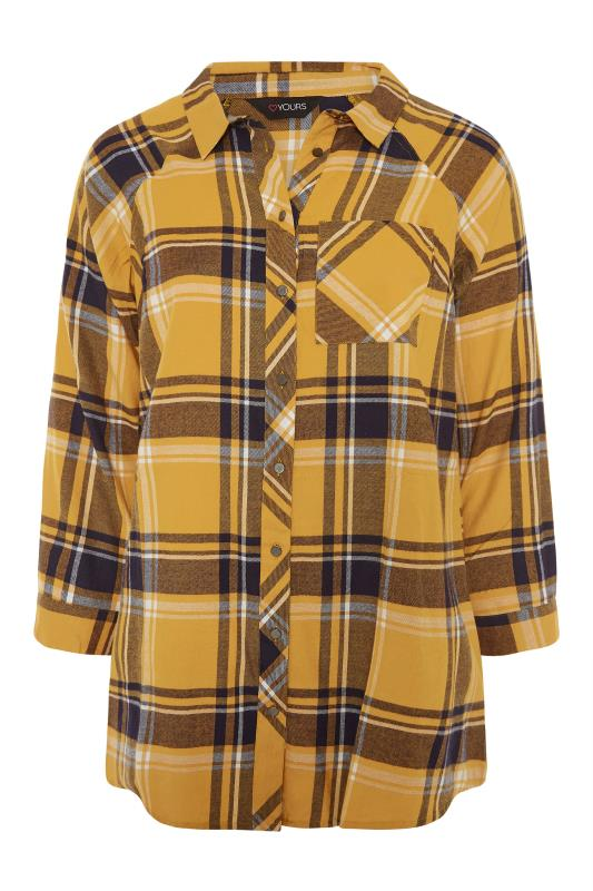 Mustard Yellow Check Raglan Boyfriend Shirt_F.jpg