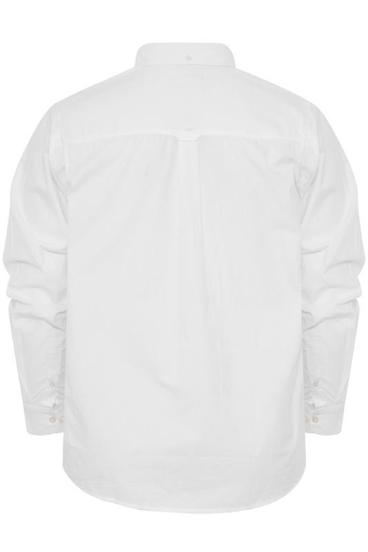BadRhino White Cotton Poplin Long Sleeve Shirt_BK.jpg