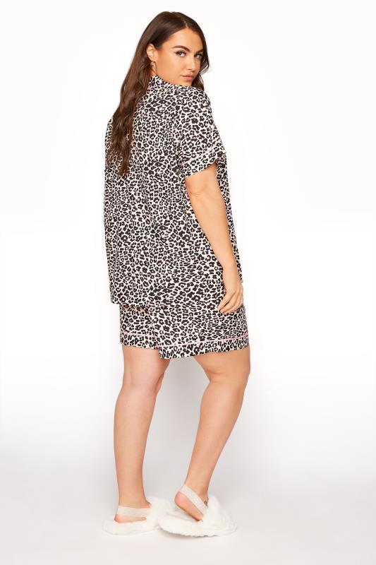Multi Woven Leopard Print Short Pyjama Set_C.jpg