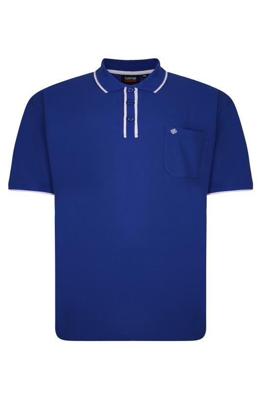 Men's  ESPIONAGE Royal Blue Pique Tipped Polo