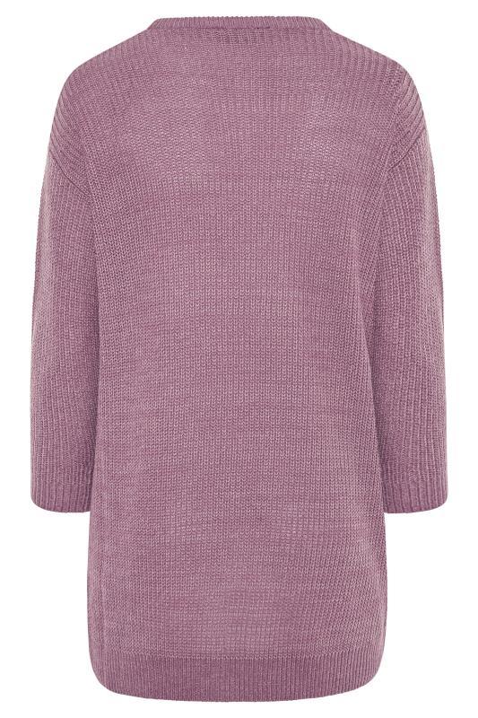 Mauve Purple Chunky Knitted Jumper_BK.jpg