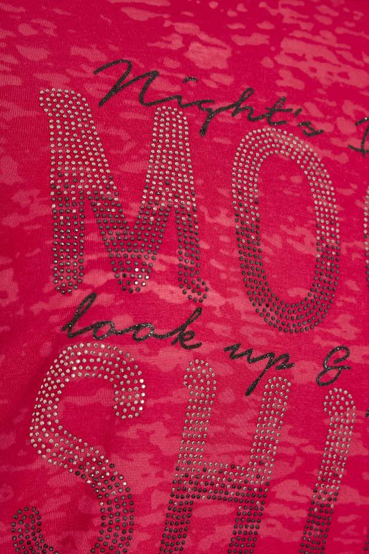 Red 'Moon Shine' Embellished T-Shirt_E.jpg