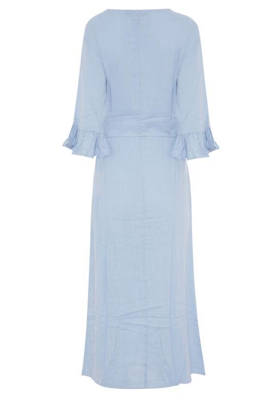 LTS Blue Frill Sleeve Midi Dress_BK.jpg