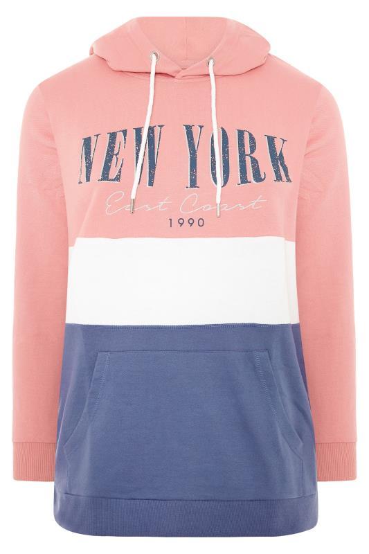 Pink Colour Block New York Hoodie_F.jpg