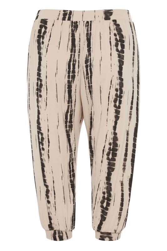 Natural Linear Tie Dye Cuffed Harem Trousers_BK.jpg
