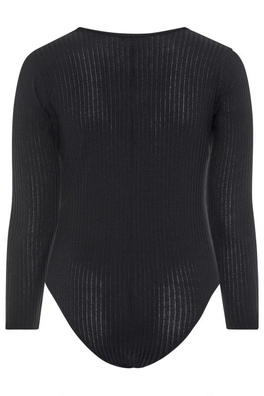 LIMITED COLLECTION Black Square Neck Ribbed Bodysuit