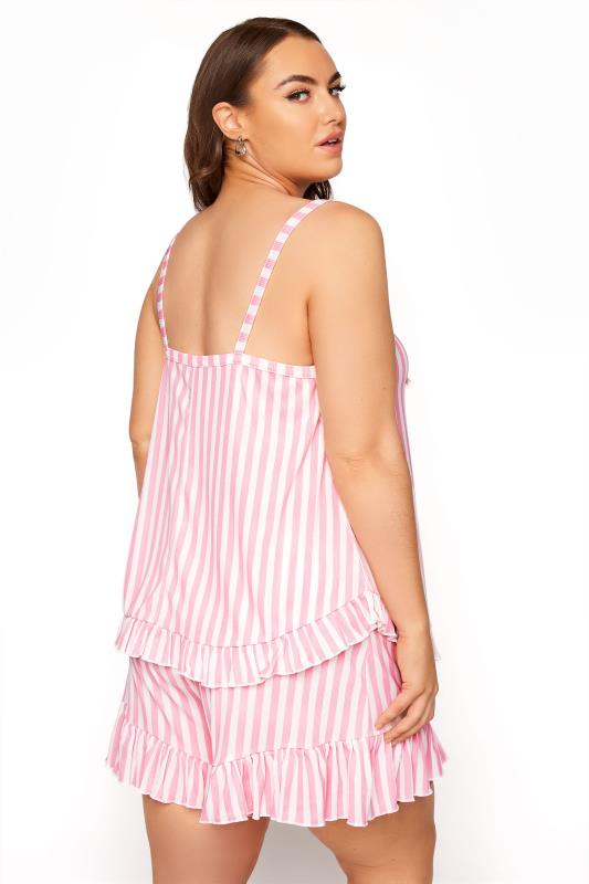 LIMITED COLLECTION Pink Stripe Frill Pyjama Top_C.jpg