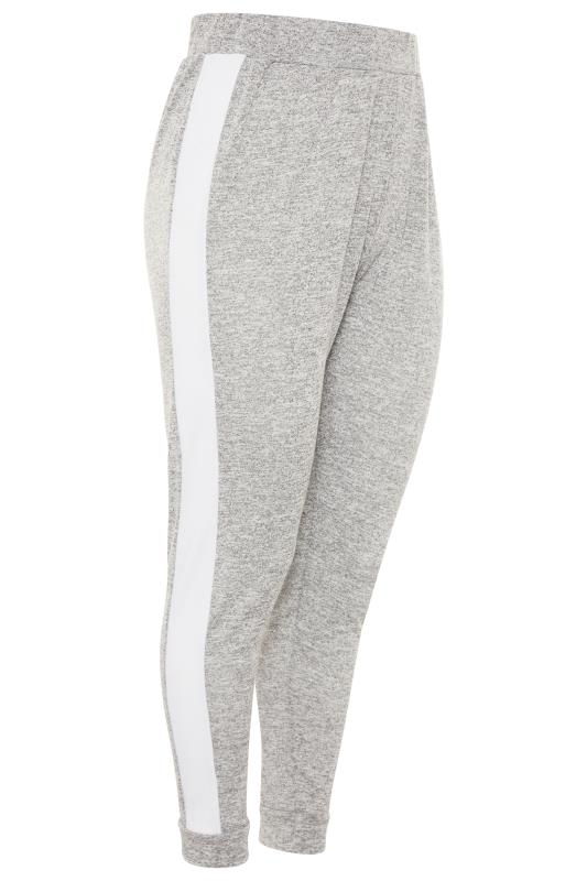 Grey Marl Stripe Tape Co-ord Joggers