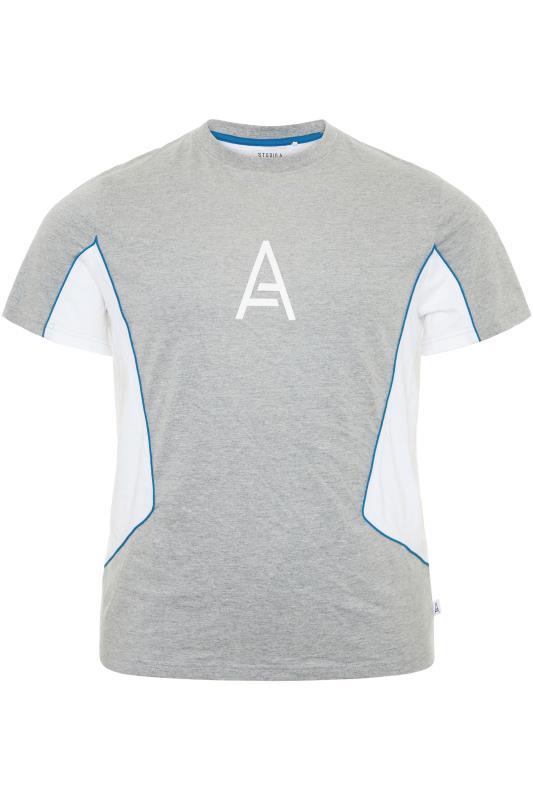 STUDIO A Graues Colour Block T-Shirt