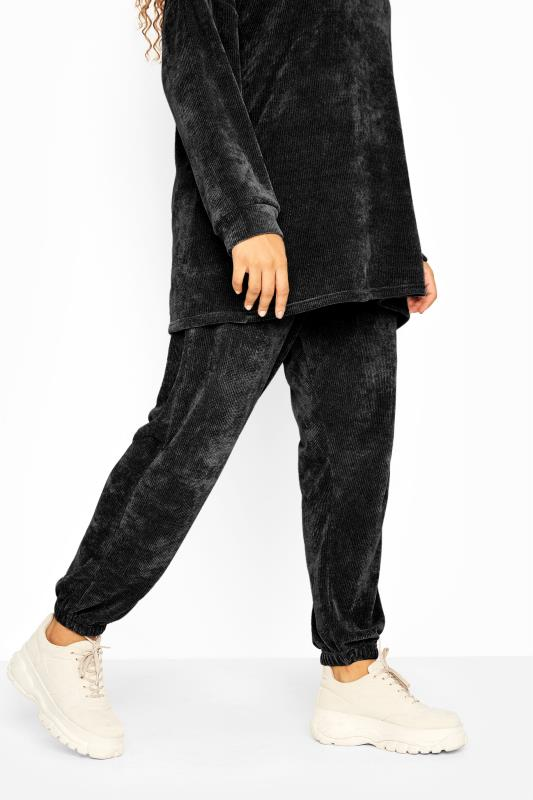 Black Chenille Co-ord Joggers