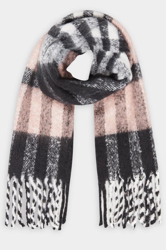 Pink & Grey Super Soft Check Scarf_F.jpg