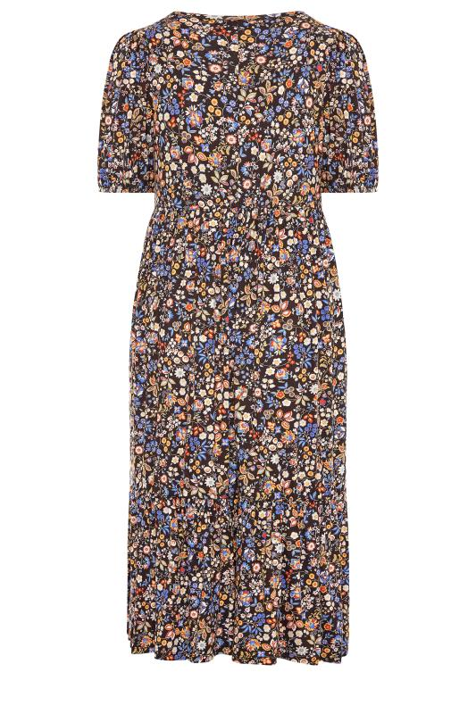 Black Paisley Print Puff Sleeve Midaxi Dress_BK.jpg