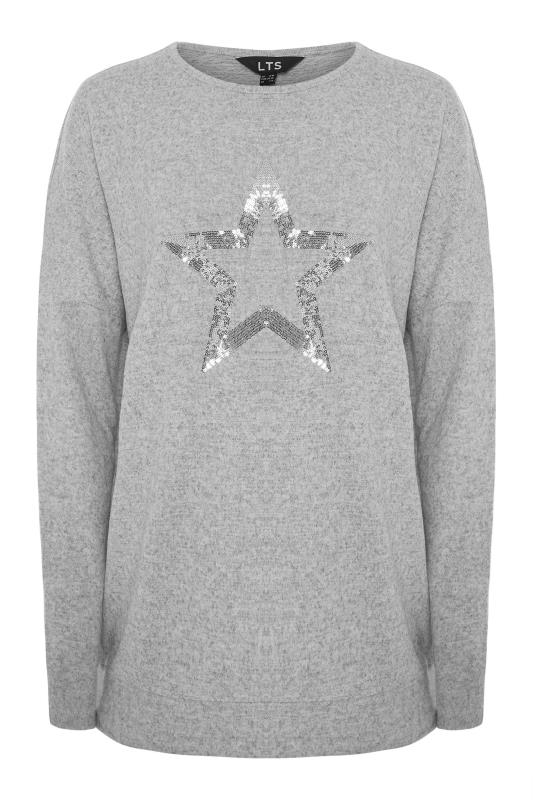 LTS Grey Sequin Star Soft Touch Top_F.jpg