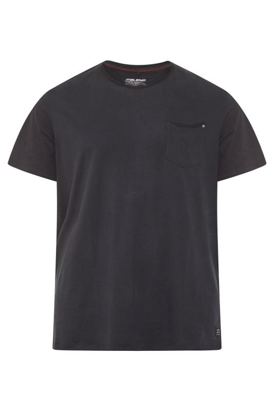 Großen Größen  BLEND Black  Plain Pocket T-Shirt