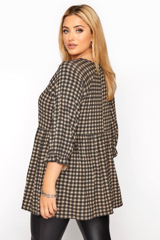 LIMITED COLLECTION Natural Gingham Smock Top_C.jpg