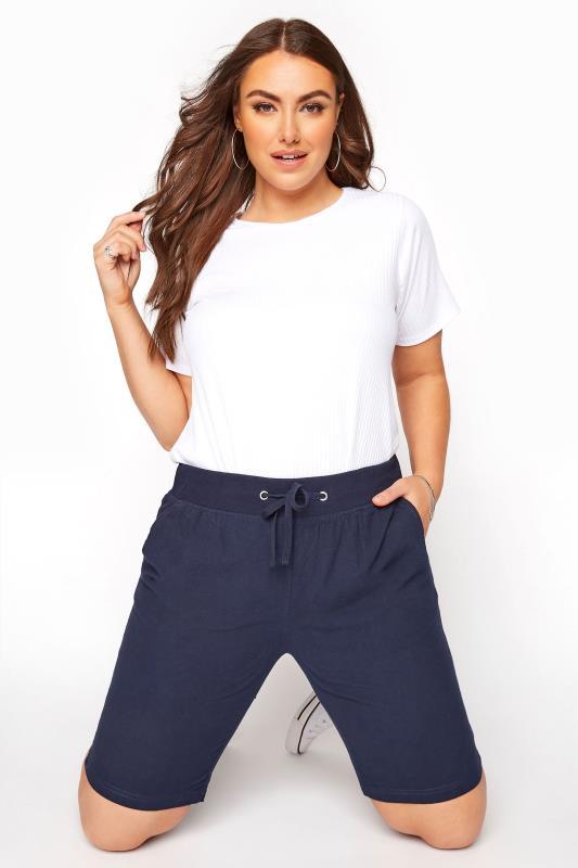 Navy Cool Cotton Shorts_A.jpg