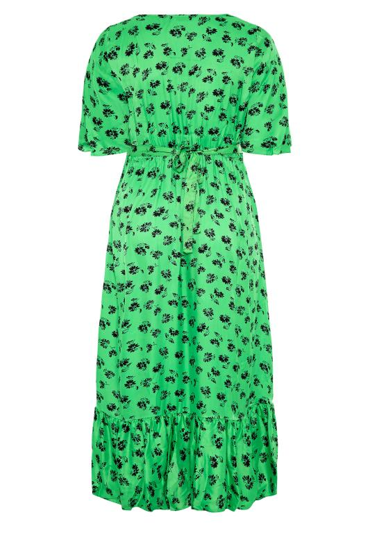 THE LIMITED EDIT Green Floral Ruffled Wrap Maxi Dress_BK.jpg