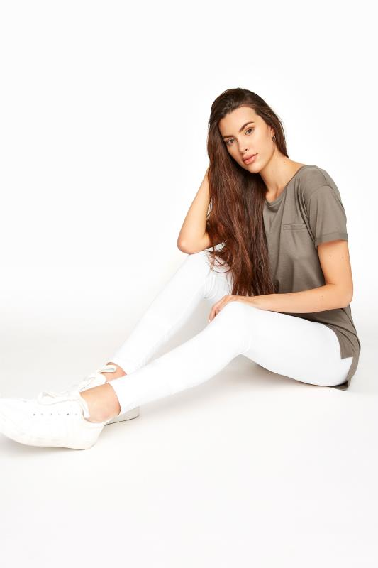 Tall  LTS SUSTAINABLE White Organic Cotton Leggings