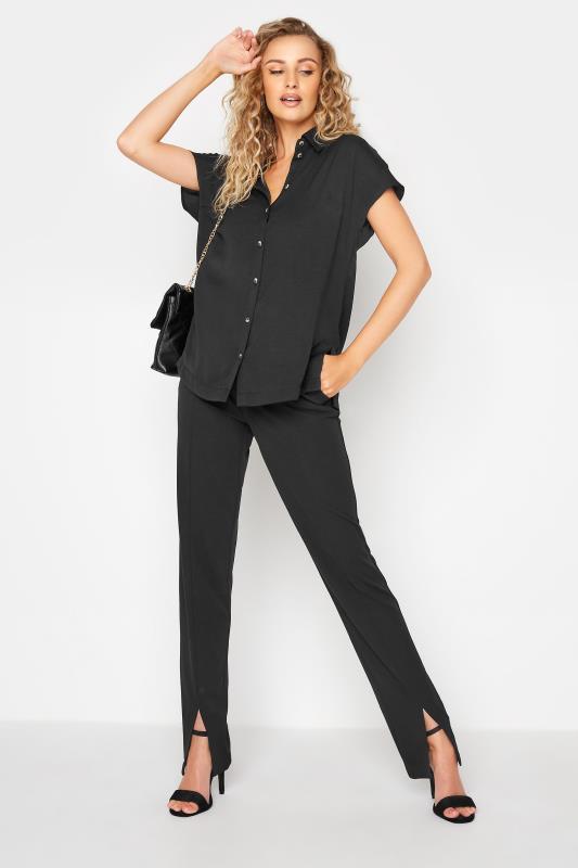 Tall  LTS Black Split Hem Trousers