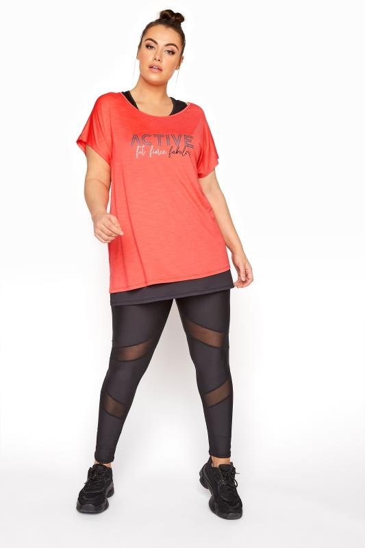 ACTIVE Black Mesh Leggings