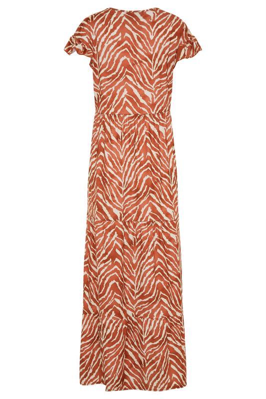 LTS Rust Zebra Print Tiered Midaxi Dress_BK.jpg