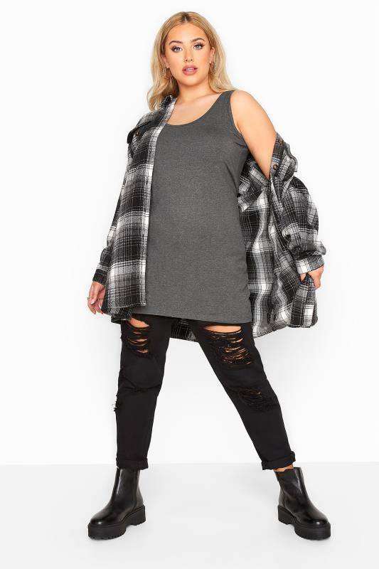 Charcoal Grey Longline Vest