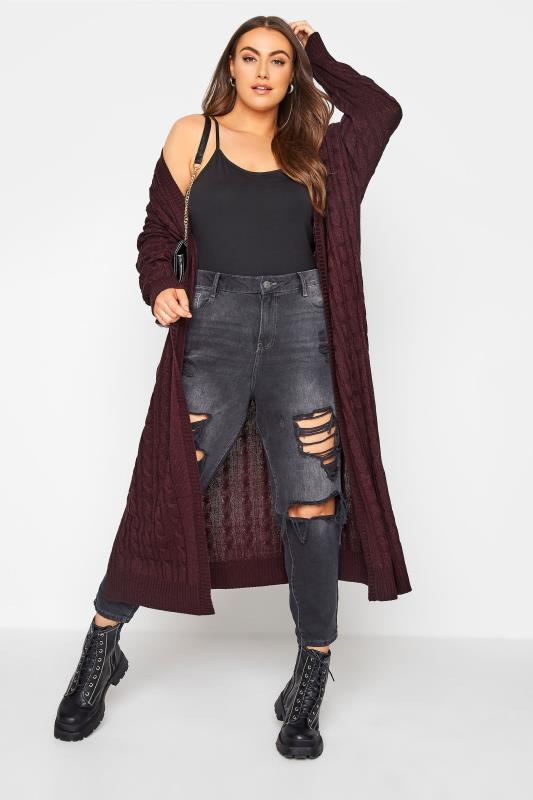 Berry Cable Knitted Maxi Cardigan_B.jpg
