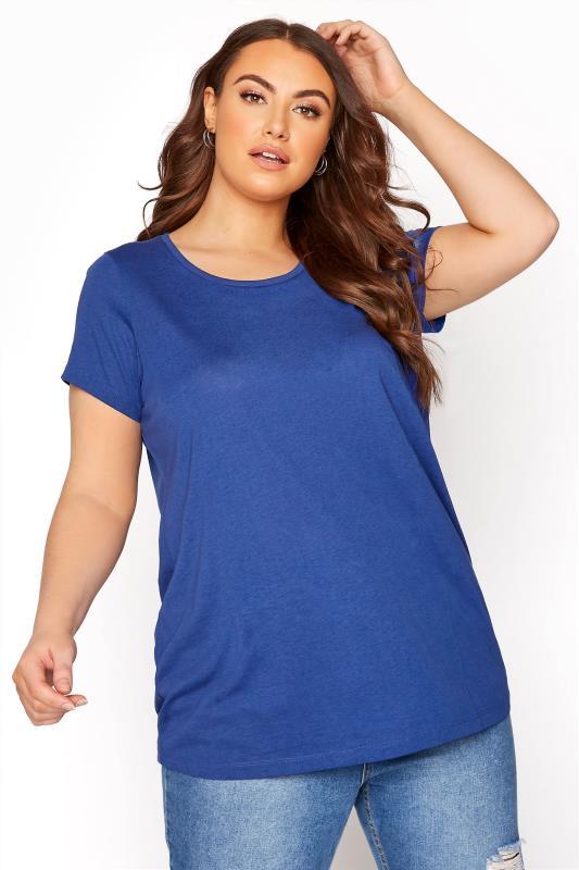 Plus Size  Cobalt Blue T-Shirt