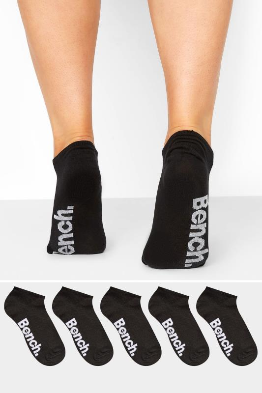 BENCH 5 Pack Black Ankle Socks