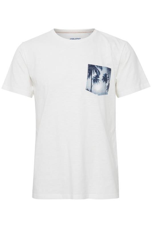 Plus Size  BLEND White Palm Pocket T-Shirt