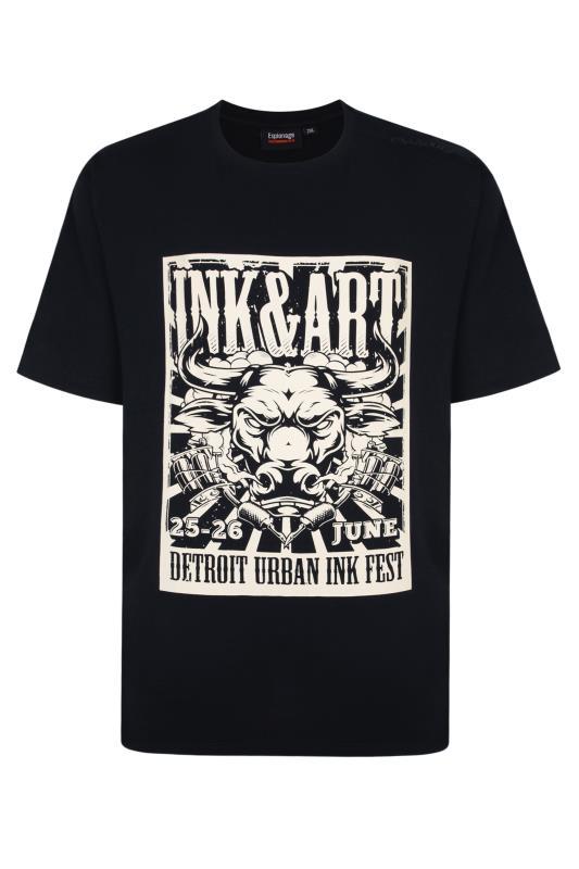 Plus Size  ESPIONAGE Black 'Ink Art' Graphic T-Shirt