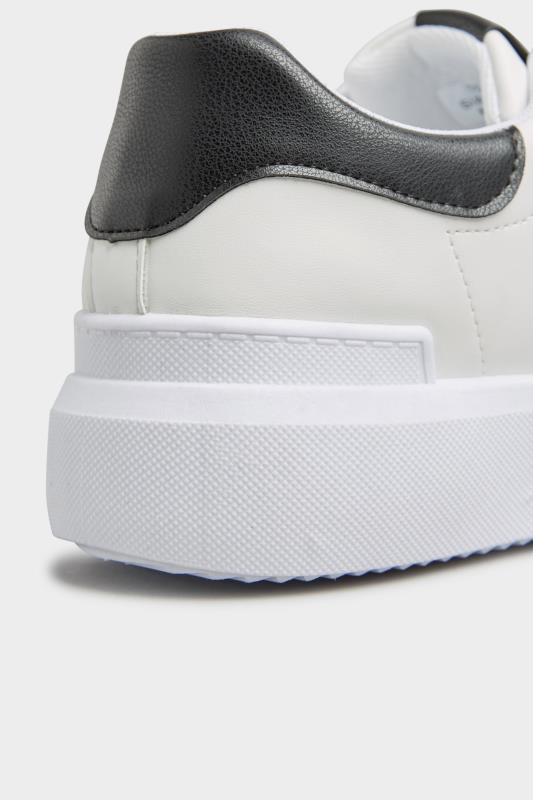 LIMITED COLLECTION White and Black Flatform Trainer In Wide Fit_d.jpg