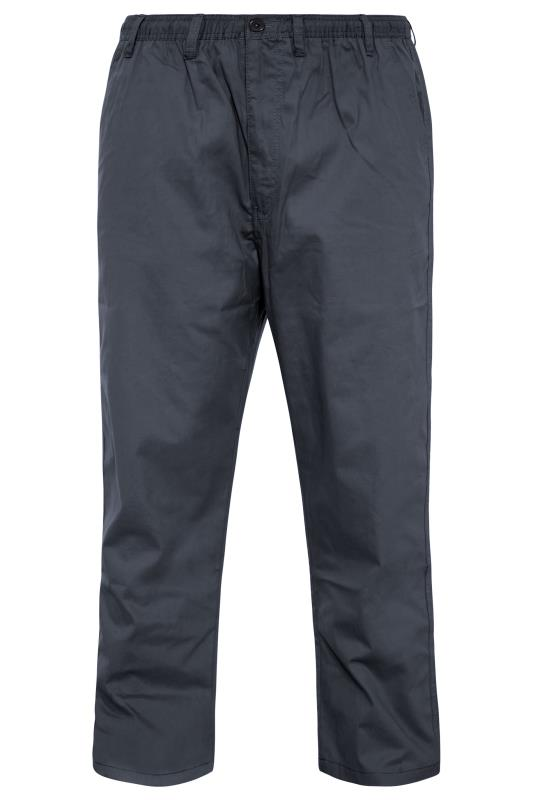 Plus Size  ESPIONAGE Navy Rugby Trousers