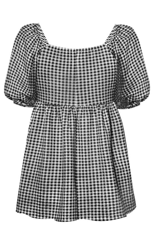 LIMITED COLLECTION Black Gingham Milkmaid Top_BK.jpg