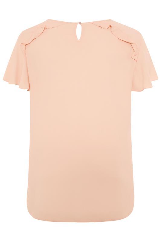Peach Angel Sleeve Frill Shoulder Tunic_bk.jpg