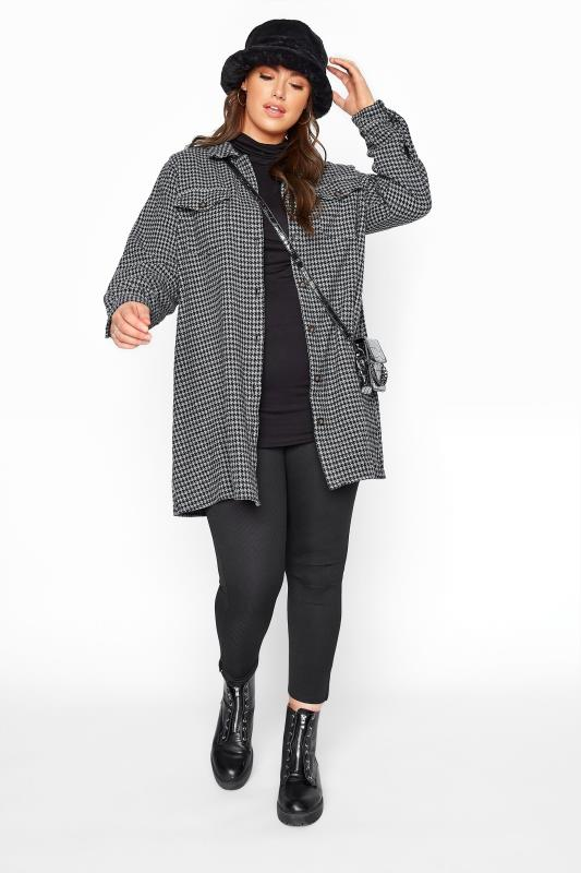 LIMITED COLLECTION Grey Dogtooth Check Shacket